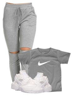 A fashion look from April 2016 featuring NIKE athletic shoes. Browse and shop related looks. Swag Outfits For Girls, Chill Outfits, Cute Swag Outfits, Teenager Outfits, Nike Outfits, Teen Fashion Outfits, Trendy Outfits, Fashion Models, Jordan Outfits