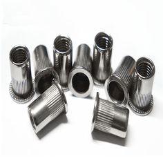 10Pcs/Lot 304 Stainless Steel M5 Riveting nut Flat vertical stripes Metric thread iron Rivet Nut Rivnut Inserts Nut CPC75