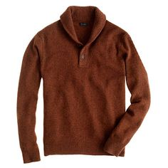 D: Nice dark, warm toned sweater like this + jeans? and brown shoes - throw a jacket over