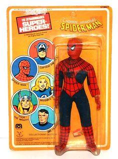 "Vintage 1979 Mego Spiderman 8"" Action Figure in Original Packaging   eBay"