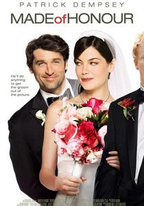 Made of Honor Patrick Dempsey, Michelle Monaghan, Kevin McKidd. A commitment-shy guy (Patrick Dempsey) realizes he is in love with his best friend (Michelle Monaghan) and accepts a spot in her bridal party in the hope of stopping her wedding. Michelle Monaghan, Patrick Dempsey, See Movie, Movie Tv, Movies Showing, Movies And Tv Shows, Film Romance, Made Of Honor, Chick Flicks