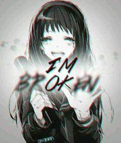 I'm ok. image by sad_eyes💔. Discover all images by sad_eyes💔. Find more awesome anime images Manga Anime, Anime Body, Manga Art, Anime Art, Anime Quotes Tumblr, Anime Qoutes, Manga Quotes, Sad Anime Girl, Sad Girl