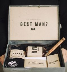 """Will you be my groomsman ideas: 10 Manly Ways to """"POP"""" the question to your Groomsman - Wedding Party"""