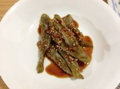 steamed green pepper with soy sauce