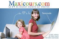 Maxicours Scolaire propose des cours d'accompagnement scolaire, du CP à la Terminale et dans plusieurs filières pro, conformes à l'Education nationale et reprenant de façon structurée l'ensemble des connaissances à acquérir.