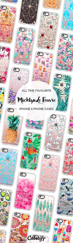 All time favourite iPhone 6 protective phone case designs by @micklyn | Click through to see more iPhone phone case ideas >>>  https://www.casetify.com/micklyn/collection #pattern | @casetify