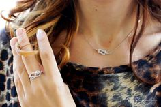 I love the Infinity Knot diamond ring and necklace! So pretty