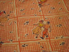Rare Full Vintage Flour Sack  Novelty Square by pinkcozycottage