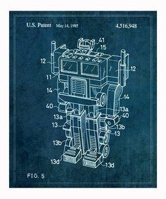 Reconfigurable Toy 1985 Art Print