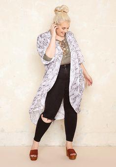 Marble Kimono £45.00  Plus Size Fashion ♥ | One One Three | Sizes 18-26