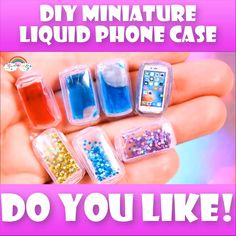 DIY Miniature LIQUID Phone Case You are in the right place about Phone case for girls homemade Here Barbie Dolls Diy, Diy Barbie Clothes, Barbie Toys, Diy Furniture Videos, Diy Barbie Furniture, 5 Minute Crafts Videos, Craft Videos, Diy Videos, Barbie Doll Accessories