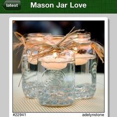 I love seeing mason jars used in creative ways. These jars can really set the mood