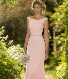 Sheath Column Scoop Neck Floor-Length Chiffon Bridesmaid Dress With Beaded  Waistband. Stephanie Gordon · Wedding Ideas fbed8aa14652
