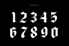 Ad: Luxus Gothic by Drew Melton on Luxus has been in the works for quite some time now. I became interested in blackletter while designing an ornate album cover (Coming soon Number Tattoo Fonts, Tattoo Fonts Alphabet, Number Tattoos, Tattoo Lettering Fonts, Graffiti Lettering, Font Tattoo, Future Tattoos, New Tattoos, Small Tattoos