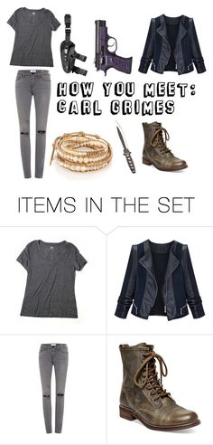 """""""How You Meet: Carl Grimes"""" by mcglitterpawz ❤ liked on Polyvore featuring art"""
