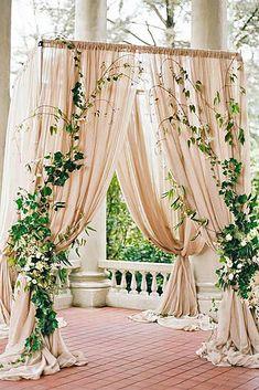 2017 Wedding Trends-Top 30 Greenery Wedding Decoration Ideas elegant greenery and blush wedding arch ideas Gold Ivory Wedding, Elegant Wedding, Dream Wedding, Trendy Wedding, Floral Wedding, Wedding Rustic, Wedding Greenery, Perfect Wedding, Spring Wedding