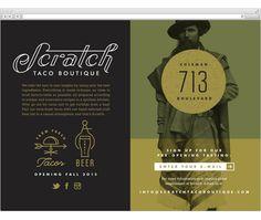 Scratch Taco Boutique / website by J. Fletcher Design