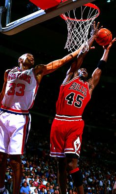 Grant Hill and Michael Jordan, I will admit Jordan is the greatest of all time but he's still a chump in my books!