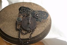 Unique Steampunk Butterfly Hair Clip/ Steampunk by LilyMairi, $45.00