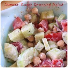 Julie's Lifestyle: Summer Ranch Dressing Salad
