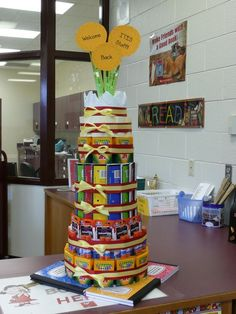 """Back to school """"cake"""" of school supplies.Great gift or decoration."""