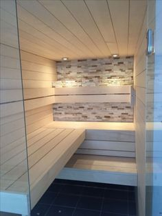 35 The Best Home Sauna Design Ideas You Definitely Like - No matter what you're shopping for, it helps to know all of your options. A home sauna is certainly no different. There are at least different options. Home Spa Room, Spa Rooms, Sauna Steam Room, Sauna Room, Saunas, Sauna Lights, Sauna Seca, Outdoor Sauna, Sauna Design