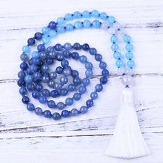 Looking for authentic, one of a kind, handmade malas? Quartz Stone, Quartz Crystal, Third Eye, Jade, Beaded Necklace, Gemstones, Crystals, Handmade, Stuff To Buy