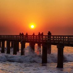 Red as blood. Sunset over the Swakopmund jetty.  Image: Ruan Human