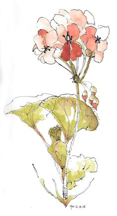 George Mellen - dip pen and watercolor