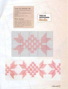 Risultati immagini per ponto reto Swedish Embroidery, Baby Embroidery, Hardanger Embroidery, Ribbon Embroidery, Cross Stitch Embroidery, Embroidery Patterns, Needlepoint Stitches, Needlework, Bordados Tambour