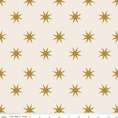 The Quilted Fish - La Vie Boheme - Stars in Cream and Gold Sparkle