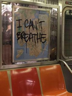 I can't breathe written on the window of a Subway Protest Kunst, Protest Art, Look Wallpaper, Mode Poster, Grafiti, Cant Breathe, Power To The People, People Leave, New Wall