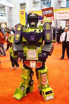"How to make a Constructicons: ""Devastator"" costume #Transformer #cosplay #Halloween"