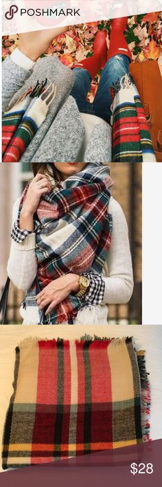 GORGEOUS BLANKET SCARF !!! Gorgeous blanket scarf great for the holidays  Accessories Scarves & Wraps