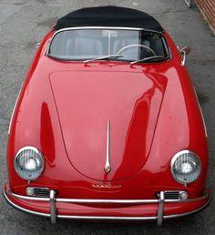 : 1958 Porsche 356 Speedster - Gorgeous in red! Porsche 356 Speedster, Porsche Panamera, Porsche Roadster, Classy Cars, Sexy Cars, Vintage Porsche, Vintage Cars, Austin Martin, Carros Vw
