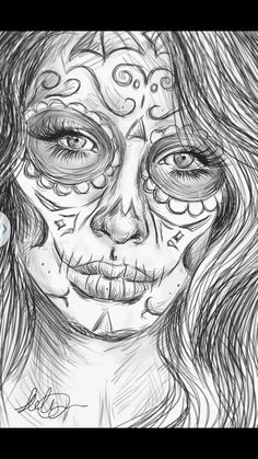 Realistic girl faces coloring pages Angel Coloring Pages, Coloring Pages For Girls, Colouring Pages, Coloring Sheets, Sugar Skull Mädchen, Skull Hand Tattoo, Girl Faces, Human Drawing, Lion Drawing