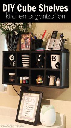 Kitchen Organization - DIY Cube Shelves