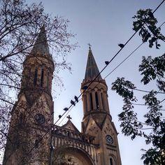 Y salió el sol #weekend #instapics #birds #sky #ciel #trees #arbres #leaves #feuilles #moments #sunnyday #church #architecture #arquitectura #BuenosAires #Argentina  (en Parroquia Ntra. Sra. De Guadalupe)