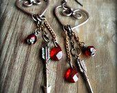 Heart and Arrow earrings.