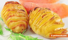 The Recipe for Potato with Garlic Baked in a Swedish Way | Dietary Cookery | Genius cook - Healthy Nutrition, Tasty Food, Simple Recipes