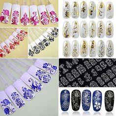 8Colorx 108 PCS 3D Flower Nail Art Stickers by HighClassNailsss