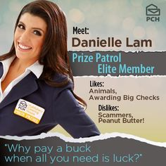 Get to know more about your favorite #PCH Prize Patrol member, @PCHDanielle!