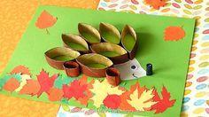 Bricolage herisson recup pour l'automne.Image fixe015