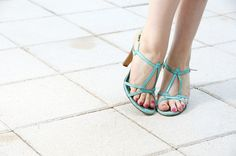 blue strappy high heels #Heels #shoes #TwinVogue