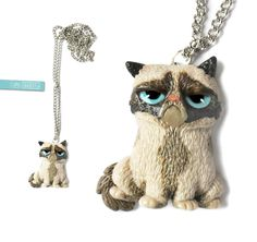 Grumpy Cat necklace by Marinush jewelry