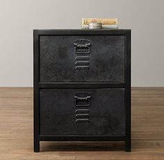 Boys nightstand french railroad cabinet from for Restoration hardware bedside tables