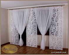 Gloria 5 Komplet na Balkon 3 panele +kokony kar - 6006566451 - oficjalne archiwum allegro Home Curtains, Hanging Curtains, Window Curtains, Curtains And Draperies, Modern Curtains, Valance, Curtain Styles, Curtain Designs, Curtain Ideas
