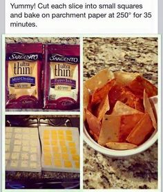 Cheese Chips also you can do pepperoni Chips the same way!!
