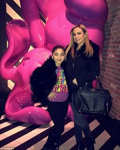 Cosmopolitan: Milania also posted a number of photos of her weekend in New York City, which included stops at Sugar Factor, Dylan's Candy Bar and newly opened hotspot Vandal (above with family friendLisa Giammarino)