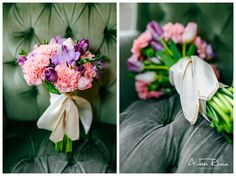Pink and purple flower bouquet || Wedding Flowers
